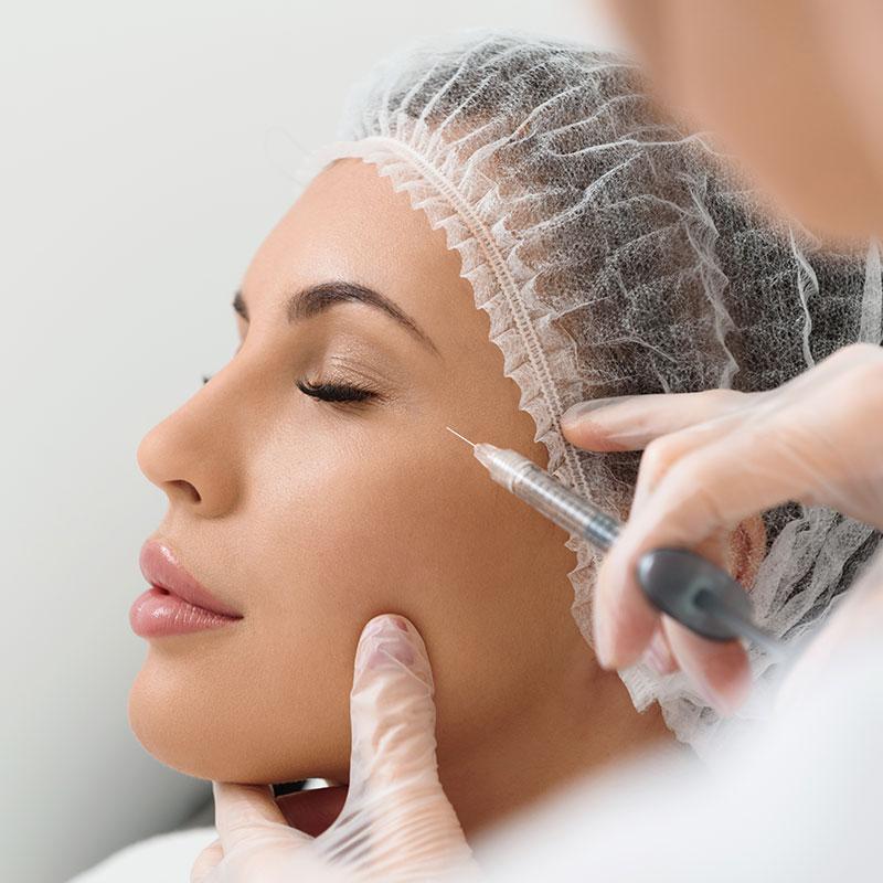 skin treatment via injection